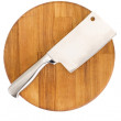 Meat cleaver isolated over white background - Stock Photo