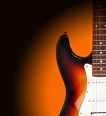 Electricguitar isolated on gradient background — Stock Photo