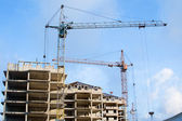 строительство нового здания высок высоты — Стоковое фото