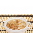 Stock Photo: Chicken broth with egg and breadcrumbs
