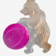 Christmas-tree toy. Bear with ball 2. — Zdjęcie stockowe