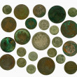 Set of old Russian coins. Reverse — Stock Photo