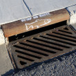Stock Photo: Storm Drain Warning