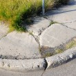 Old Cracked Sidewalk — Stock Photo