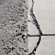 Stock Photo: Damaged Sidewalk