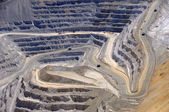 Close-up of Copper Mine Open Pit Excavation — Stock Photo