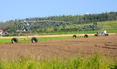 Center Pivot Irrigation System at Alaska Experimental Farm — Stock Photo