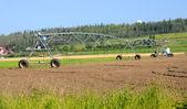 Center Pivot Irrigation System at Alaska Experimental Farm — Stock Photo
