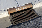Storm Drain Warning — Stock Photo