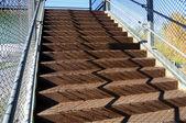 Rusty Stairway in Elevated Walkway — Stock Photo
