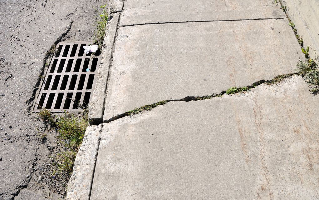 Cracked Urban Sidewalk — Stock Photo #3995516