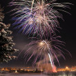 Stock Photo: Arctic Solstice Fireworks