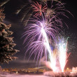 Arctic Solstice Fireworks - Stock Photo