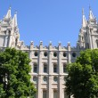 Mormon Temple in Salt Lake City, Utah - Stock Photo
