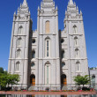 LDS Mormon Temple In Salt Lake City - Stock Photo