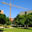 Construction on University Campus - Stock Photo