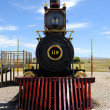 Historic Steam Locomotive at Golden Spike National Historic Monument - Stock Photo