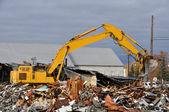 Old Building Demolition — Stock Photo