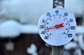 Cold Weather Thermometer — Stock Photo