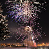 Arctic Solstice Fireworks — Photo