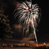 Arctic Solstice Fireworks — Stock Photo