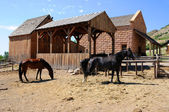 Historic Stable at This is the Place Monument in Utah — ストック写真