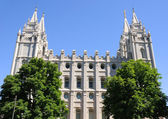 Mormon Temple in Salt Lake City, Utah — Stock Photo