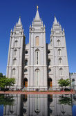 Lds mormonský chrám v salt lake city — Stock fotografie