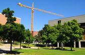Construction on University Campus — Stock Photo