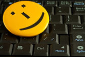 Smile emoticon — Stock Photo