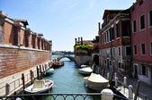 Bello canal veneciano — Stock Photo