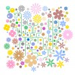 Abstract Flower Background Vector - Stock Vector