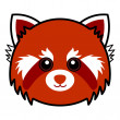 Cute Red Panda Vector — Stock Vector