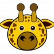 Cute Giraffe Vector — Stock Vector