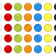 Royalty-Free Stock Imagem Vetorial: Colorful Glossy Button Vector