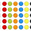 Royalty-Free Stock Imagen vectorial: Colorful Glossy Button Vector