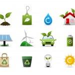 Green Environment Icon — Stock Vector