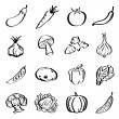 Royalty-Free Stock Vectorielle: Vegetable Icons
