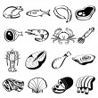 Royalty-Free Stock Vector Image: Meat Icons