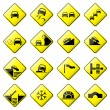 Road Sign Glossy Vector (Set 3 of 8) — Stock Vector