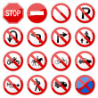 Road Sign Glossy Vector (Set 6 of 8) — Vector de stock  #4559605