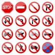 Road Sign Glossy Vector (Set 6 of 8) — Vetor de Stock  #4559605