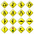 Road Sign Glossy Vector (Set 2 of 8) - Stock Vector