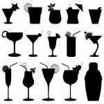 succo di frutta di bere cocktail — Vettoriale Stock