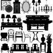 Antique Old Furniture Home House — Stock Vector #4559706