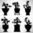 Royalty-Free Stock Imagen vectorial: Bonsai Tree Plant Flower Pot