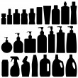 Bathroom Silhouette Set Vector — Stock Vector