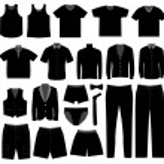 Men Man Male Apparel Shirt Cloth Wear — Stock Vector