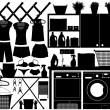 Laundry Design Set Vector — Stock Vector
