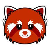 Cute Red Panda Vector — Stock Vector